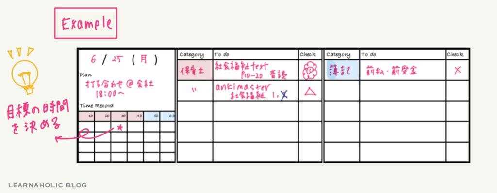 studyplanner-weekly-スケジュール例